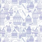 Moda - Once Upon a Time - Stacey Iest Hsu - 6246 - Purple Fairy Castles - 20595 21 - Cotton Fabric